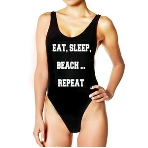 e530f63c26c05 YMI Swim | Eat Sleep Beach Repeat One Piece Bathing Suit Xl | Poshmark